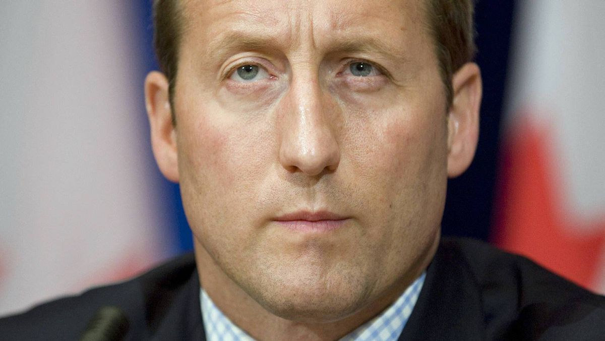 Defence Minister Peter MacKay answer a question on military mission in Afghanistan during an Ottawa news conference on Nov 16, 2010.