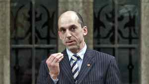 Veteran Affairs Minister Steven Blaney speaks during Question Period in the House of Commons on Feb. 1, 2012.