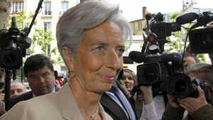 International Monetary Fund head Christine Lagarde