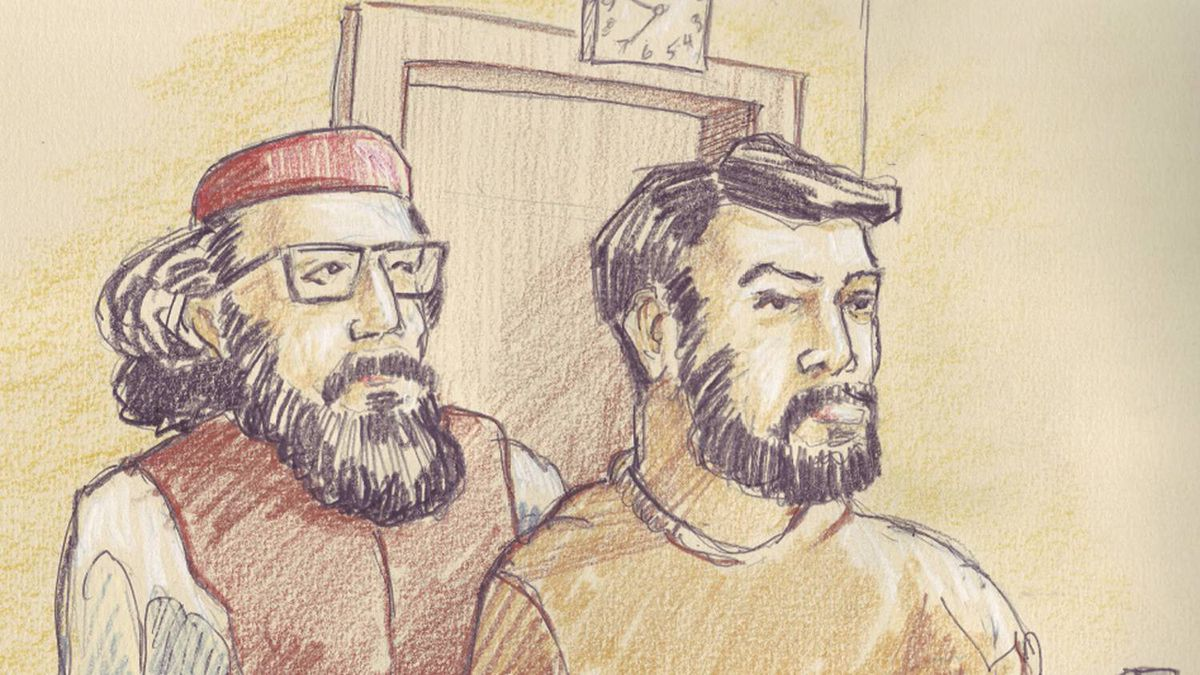 Two men, Hiva Alizadeh (left) and Misbahuddin Ahmed, were charged in an Ottawa court on Thursday with terrorism offences.