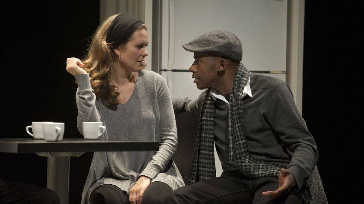 Celine Stubel and Thomas Olajide in And Slowly Beauty...