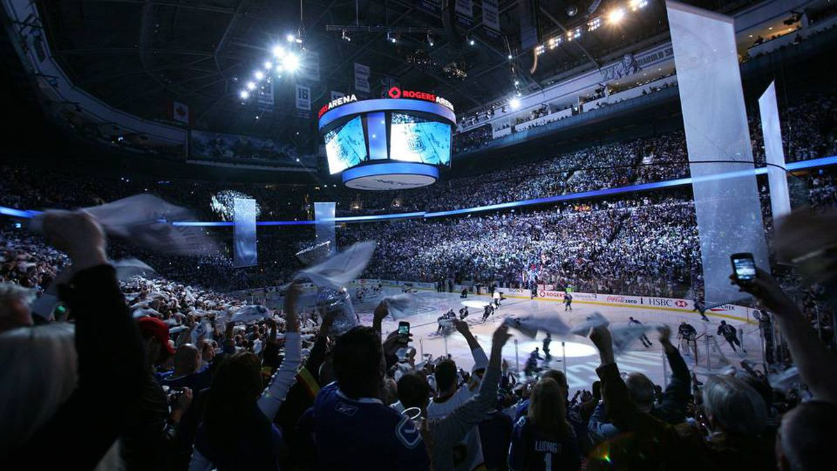 Fan wave towels before Game 1 of the 2011 NHL Stanley Cup Finals between the Vancouver Canucks and the Boston Bruins at Rogers Arena.