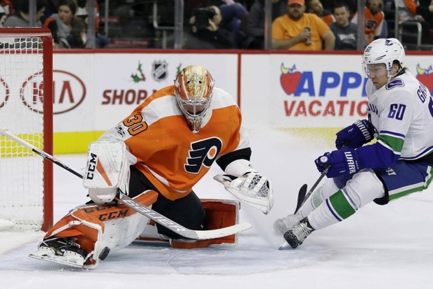 Brock Boeser Scores Twice As Canucks Beat Skidding Flyers