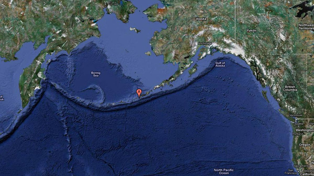 The United States Geological Survey recorded a 7.1 magnitude quake with the epicentre located near the Fox Islands section of Alaska's Pacific Aleutian island chain
