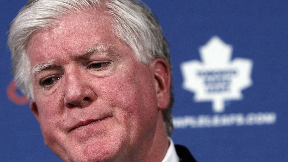 General Manager Brian Burke of the NHL team the Toronto Maple Leafs.