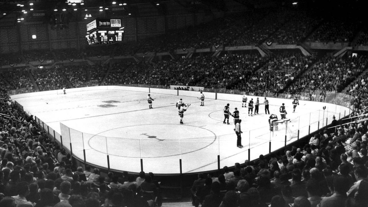 The Vancouver Canucks make their National Hockey League debut against the Los Angeles Kings at the Pacific Coliseum before a capacity crowd of 15,570 on Oct. 9, 1970.