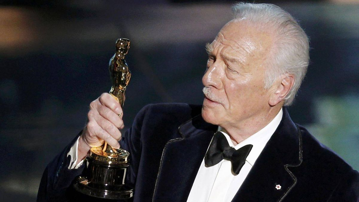 Christopher Plummer accepts the Oscar for best supporting actor for his role in Beginners at the 84th Academy Awards in Hollywood on Feb. 26, 2012.