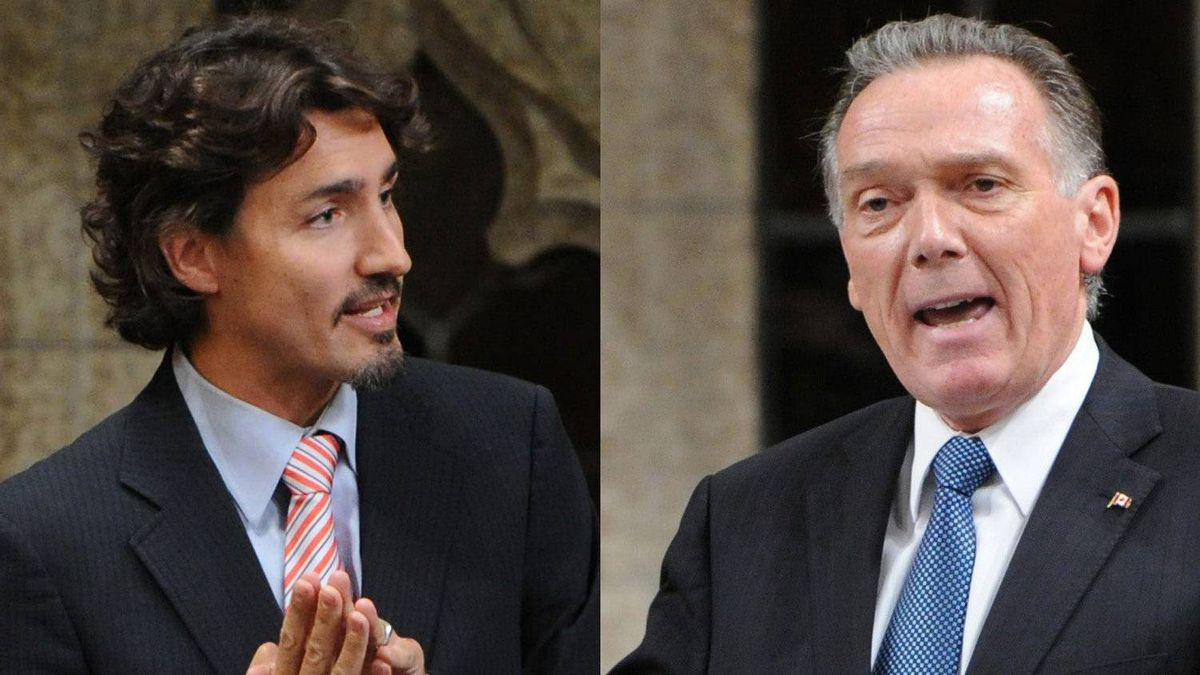 Liberal MP Justin Trudeau and Environment Minister Peter Kent spar during Question Period in a Nov. 21, 2011 photo combination.