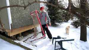 Mark Visentin, goaltender for the Canadian World Juniors is photographed at the family home in Waterdown, Ont. Jan. 7/2011. (photo by Kevin Van Paassen/The Globe and Mail)