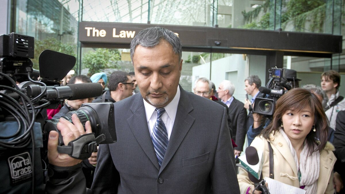 Dave Basi leaves BC Supreme Court October 18, 2010. Dave Basi and Bob Virk agreed to change their pleas while charges against a third person, Aneal Basi, cousin of Dave, were dropped altogether in the BC legislature raid trial to guilty.
