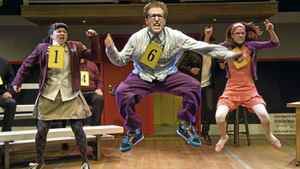 Alison MacDonald, Josh Epstein and Tracy Neff in The 25th Annual Putnam County Spelling Bee.