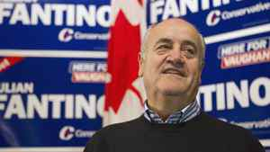 Julian Fantino arrives at his election night party after winning the by-election in the Vaughan riding. Chris Young/The Canadian Press