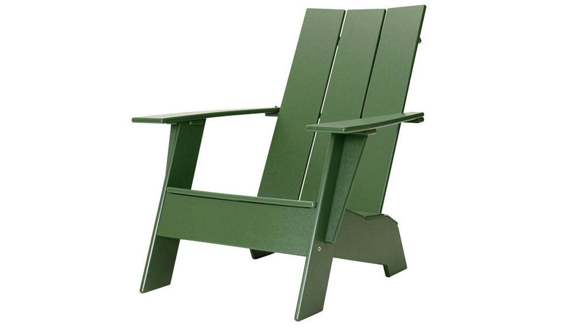 ... while Loll's Adirondack Chair is a sleeker, polyethylene version of the rustic archetype. $235 through www.dwr.com.