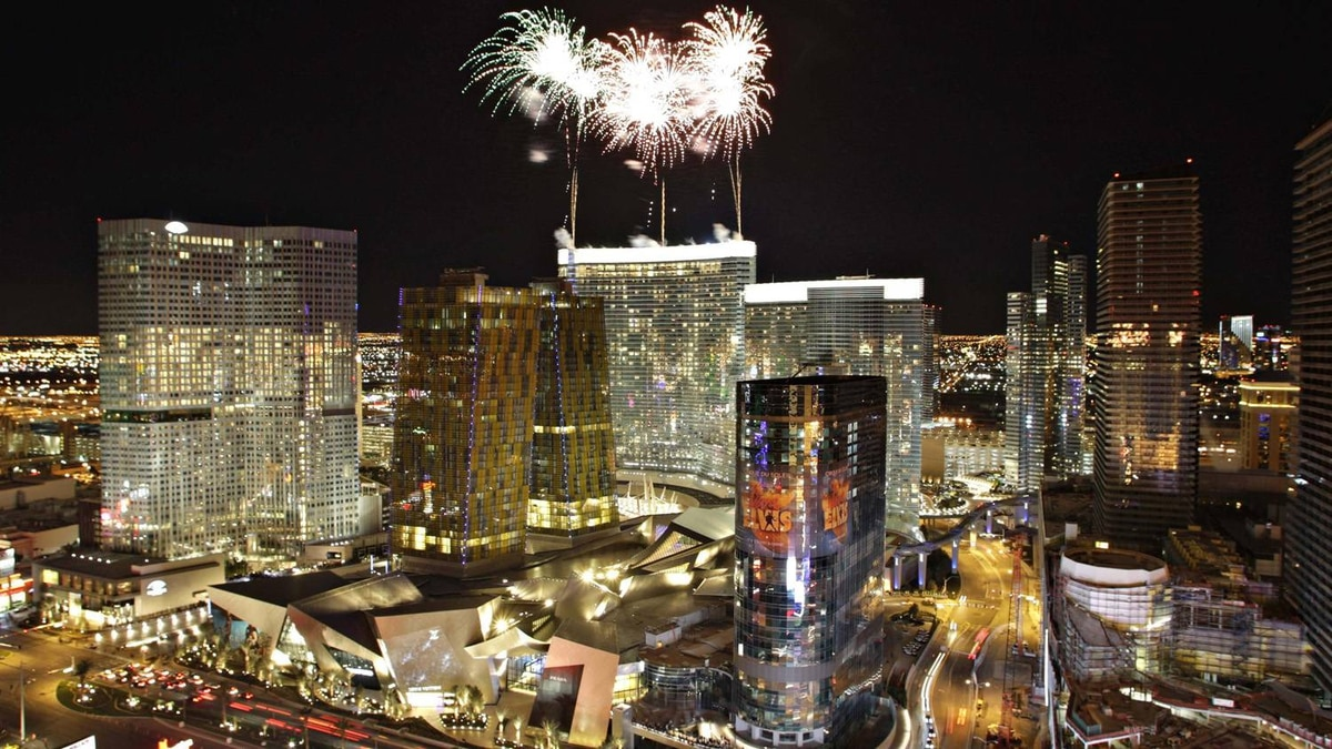 The official opening of the Aria hotel-casino in Las Vegas in December, 2009. The project is the centerpiece of the $8.5-billion CityCenter, which is a partnership between MGM Mirage and Dubai World.