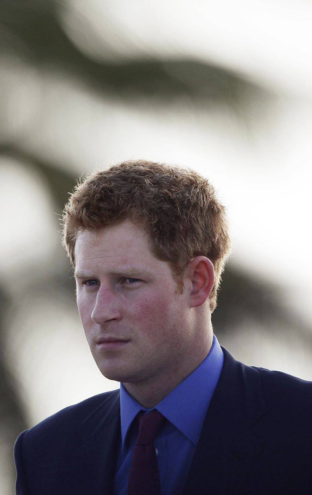 THOUGHTFUL Britain's Prince Harry arrives at Philip Goldson International airport, in Ladyville, Belize, March 2, 2012.