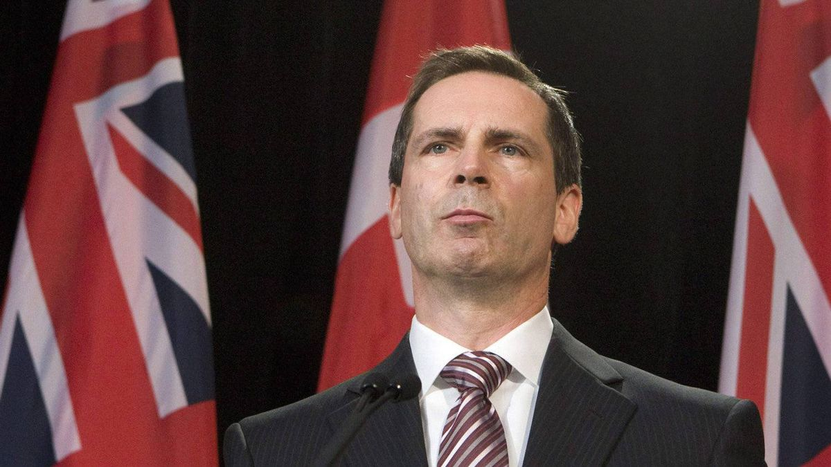 Ontario Premier Dalton McGuinty speaks during a news conference to react to the Auditor General's report on Ontario's electronic health records agency at the Ontario Legislature in Toronto on Wednesday October 7, 2009.