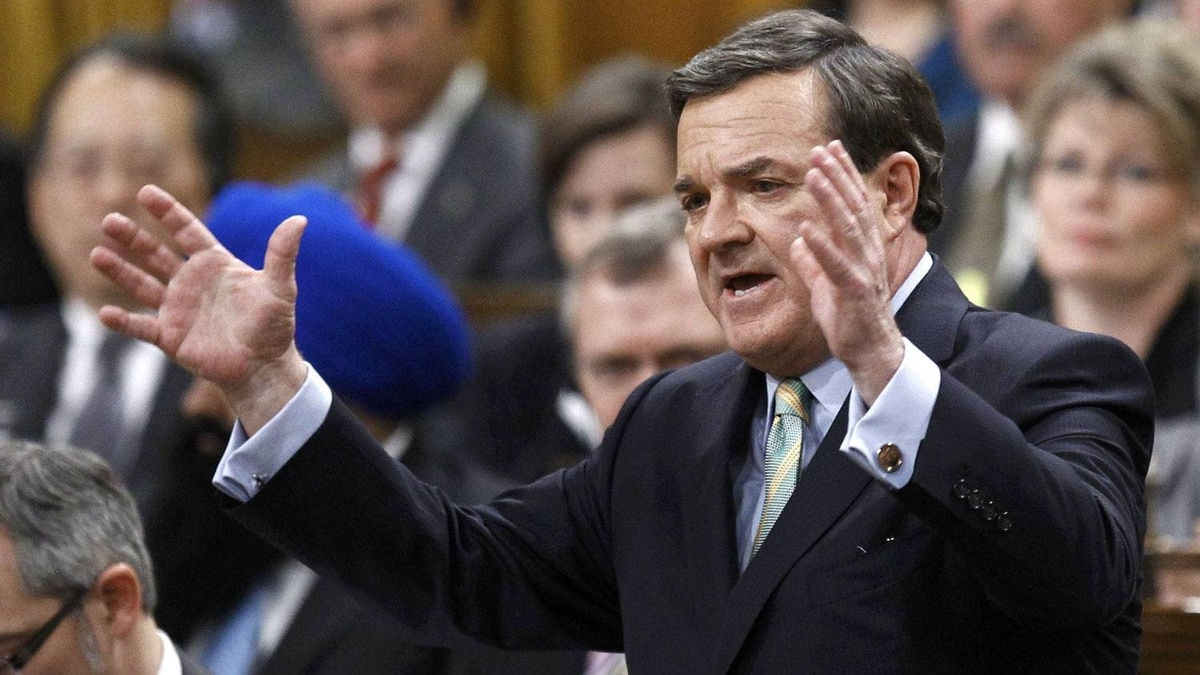 Canada's Finance Minister Jim Flaherty debates his budget in the House of Commons on Parliament Hill in Ottawa March 29, 2012.