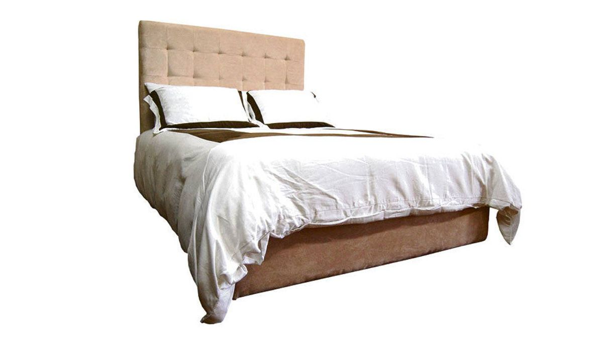 YUP's eco-friendly upholstered bed features recycled corrugated fibres and repurposed foam backing. It's available in pleather and microsuede. From $349 through www.yupinc.com.