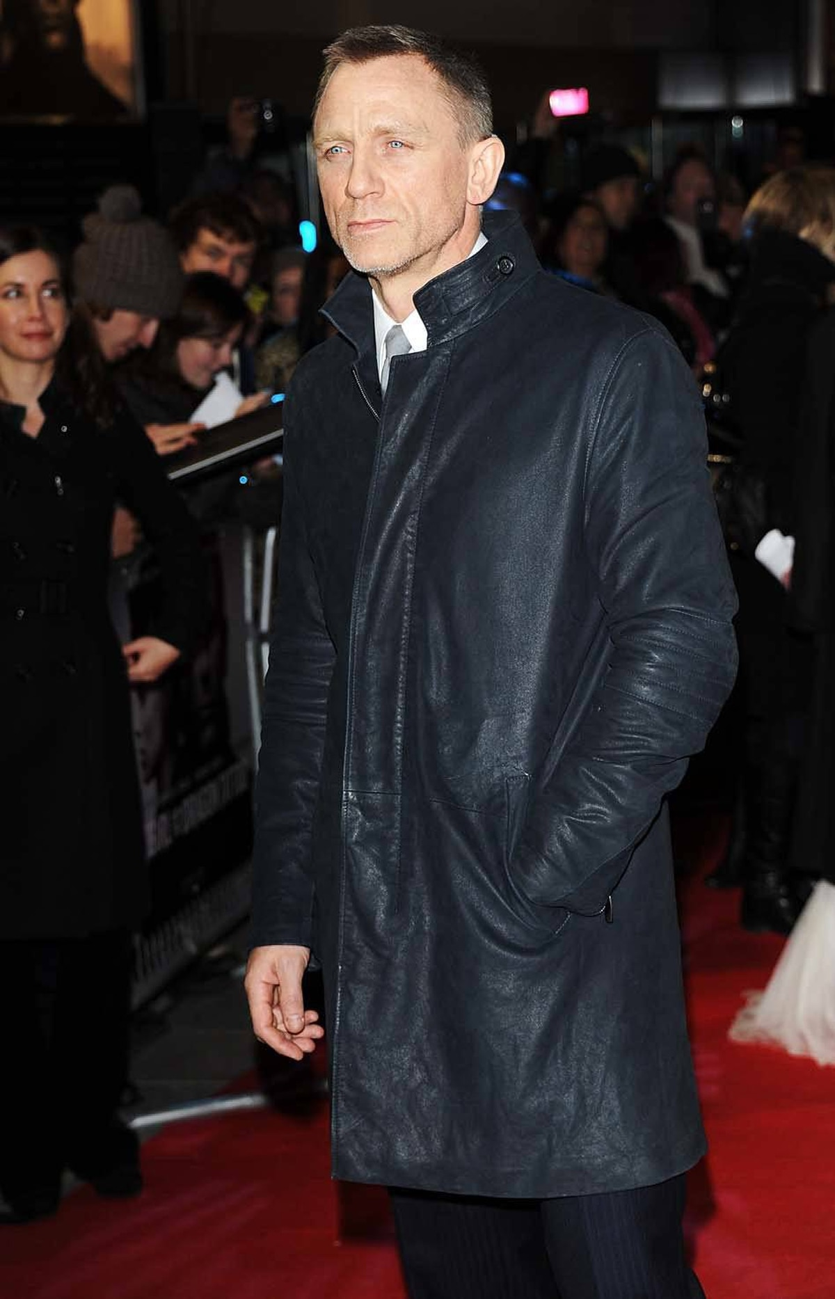 """Actor Daniel Craig hired himself as his own bodyguard at the world premiere of """"The Girl with the Dragon Tattoo"""" in London on Monday"""