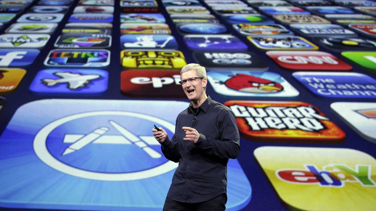 Apple CEO Tim Cook speaks during a product event in San Francisco, Wednesday, March 7, 2012. Apple is expected to reveal a new iPad model at WednesdayÍs event in San Francisco.