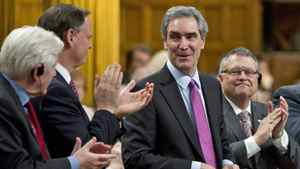 Liberal Leader Michael Ignatieff rises during Question Period in the House of Commons on March 23, 2011.