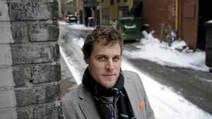 Nick Cluley - Creator of Great Experiences for ING Direct, is photographed in the laneway between Yonge and Victoria Sts. on Jan 13 2012. A new public space project by a odd-ball partnership involving the ministry of health, a local mobility group, the Danish urban planning guru Jan Gehl and ING Canada seeks to revitalize and repurpose the neglected, trash strewn space.