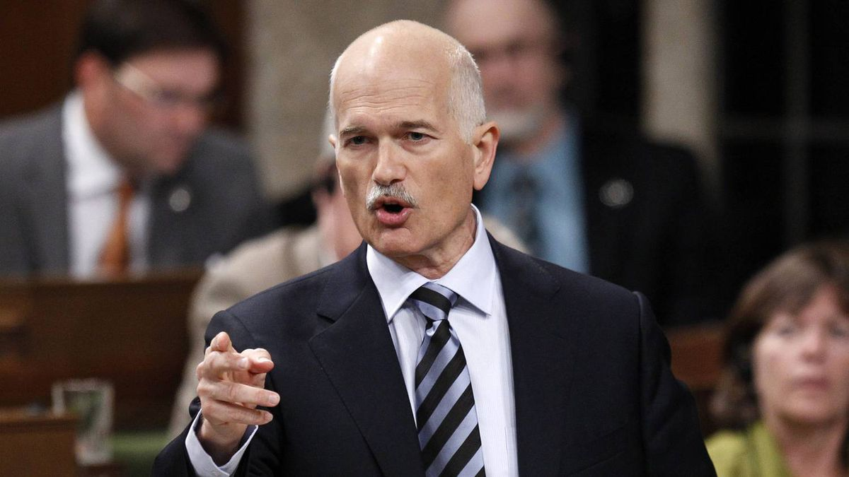 NDP Leader Jack Layton during Question Period on Sept. 23, 2010.