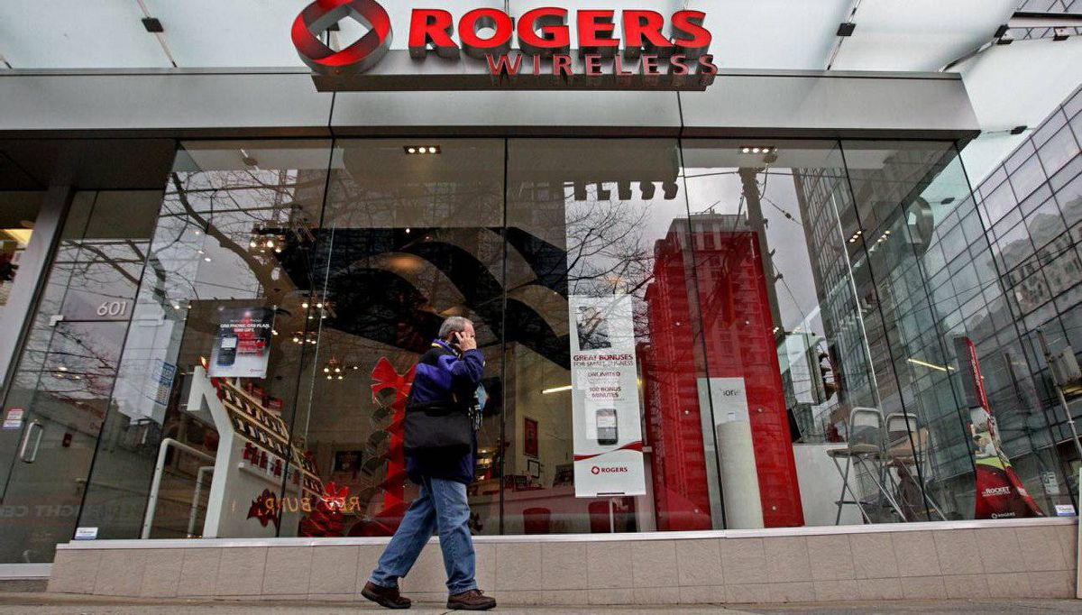 A Rogers Wireless retail store in Vancouver