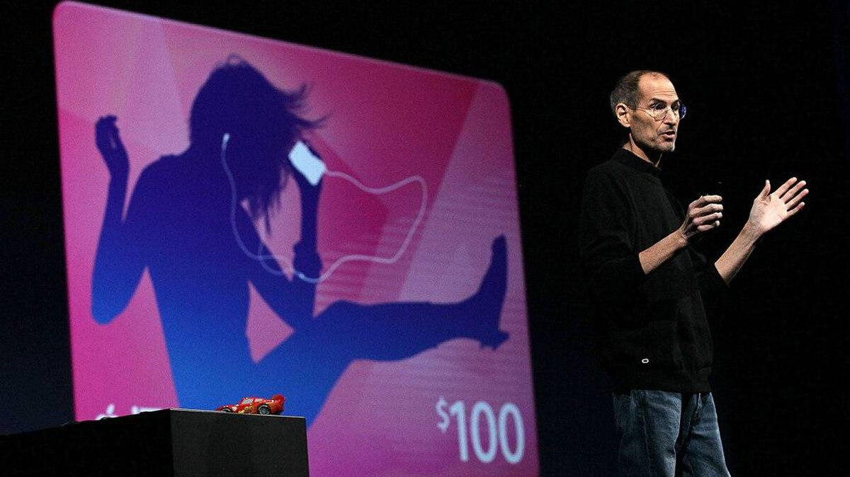 Apple CEO Steve Jobs delivers the keynote address at the 2011 Apple World Wide Developers Conference at the Moscone Center on June 6, 2011 in San Francisco, California.
