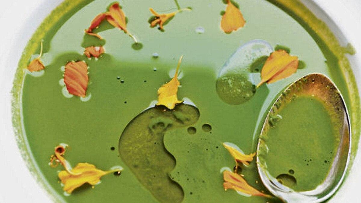 Chef David Lee's winter greens soup
