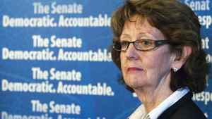 Marjory LeBreton, the Leader of the Government in the Senate, speaks at a news conference in Ottawa on Nov. 13, 2007.