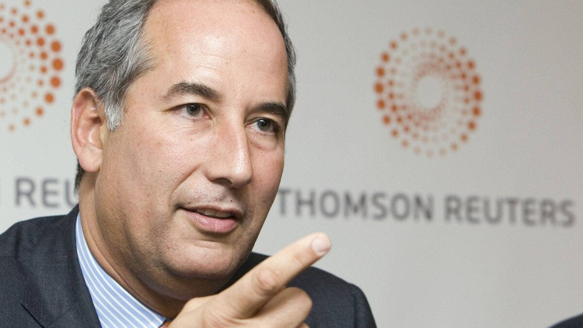 No. 10. Thomas Glocer, ceo of Thomson Reuters, speaks at a news conference following the company's AGM in Toronto. Mr. Glocer received a bonus of $3,671,594 in 2010.