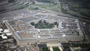 An aerial view of the United States military headquarters, the Pentagon, is shown from the air September 28, 2008.