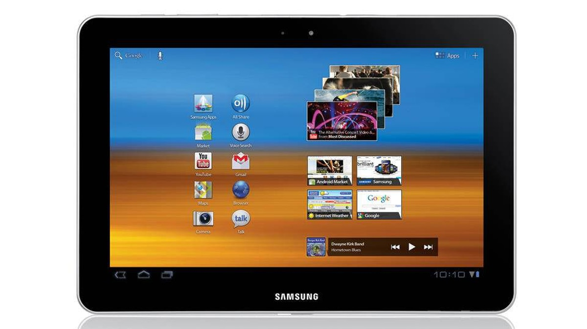 Samsung Galaxy Tab 10.1 This 10-inch tablet is light and does media, gaming and reading extremely well. Its 2MP front-facing camera makes video calling a breeze. ($499.99, bestbuy.ca)