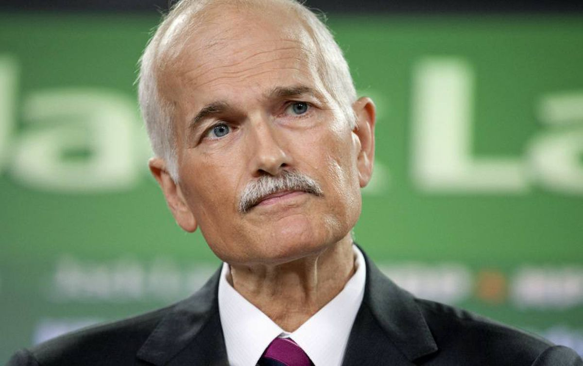 NDP Leader Jack Layton speaks during a news conference in Ottawa on July 6, 2010.