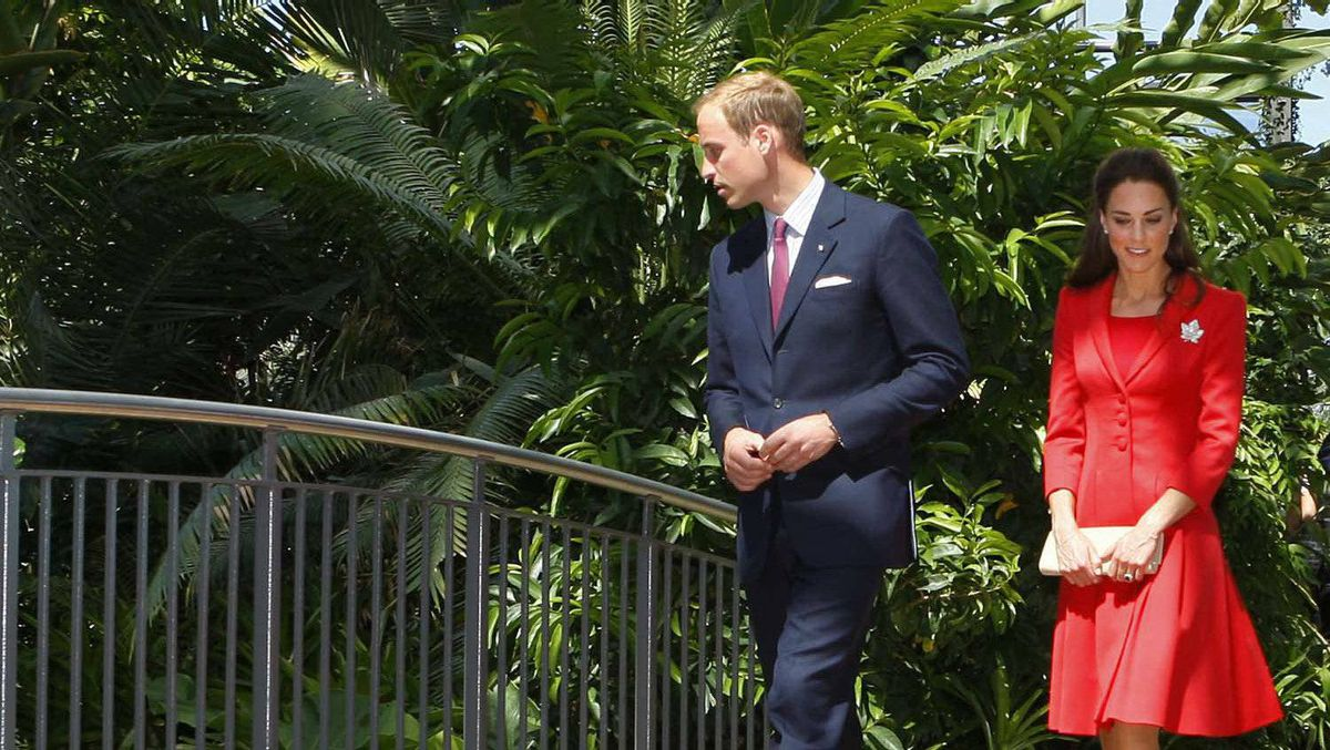 The Duke and Duchess of Cambridge tour the ENMAX Conservatory at the Calgary Zoo in Calgary, July 8, 2011.