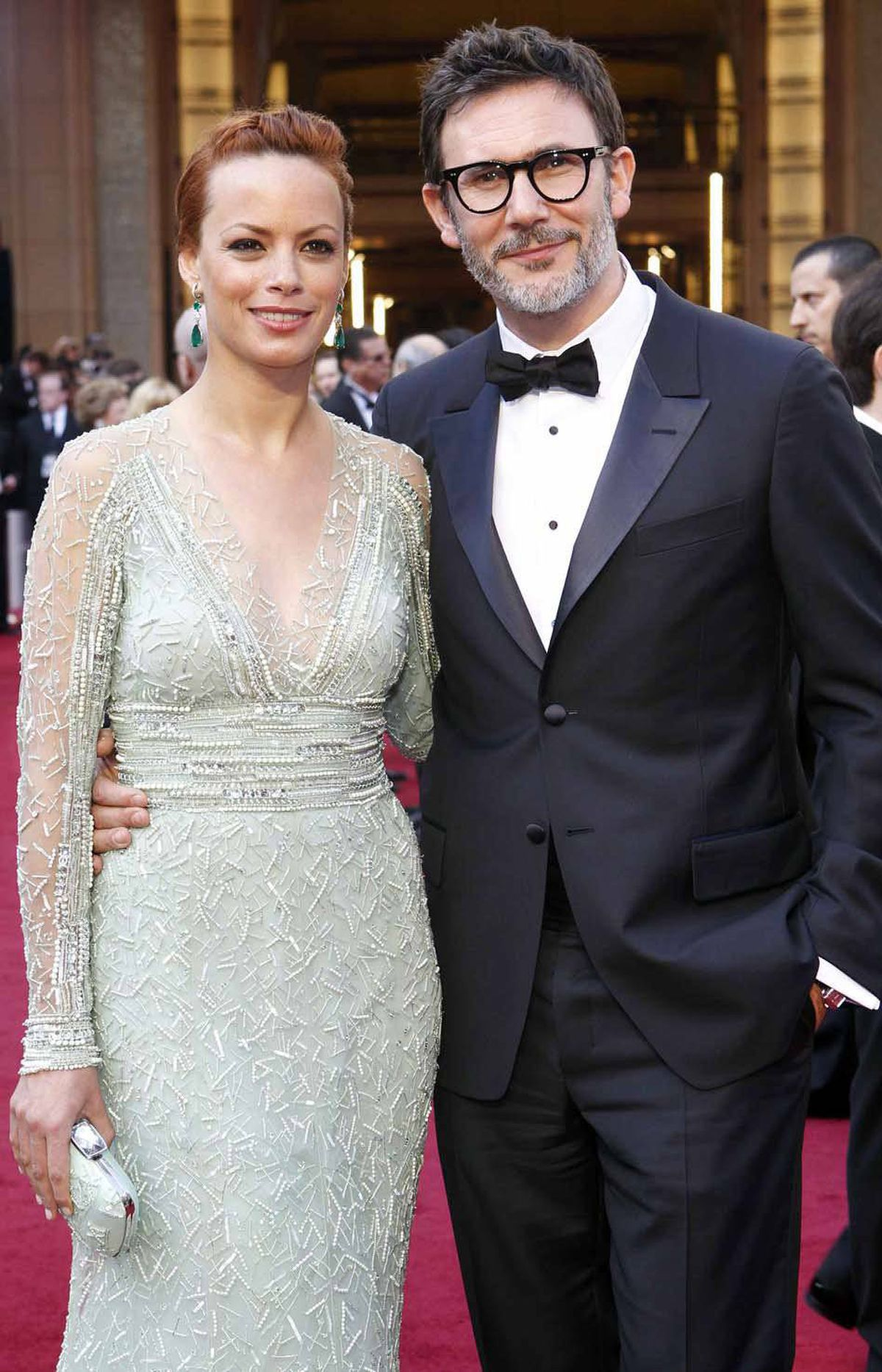 """Representing France, the Power Couple of the Night: Berenice Bejo, best supporting actress nominee for her role in """"The Artist"""", and her husband, Michel Hazanavicius, best director nominee for the same film."""