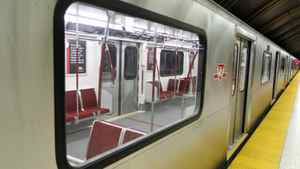 The TTC unveils new subway cars at Downsview station in Toronto on Oct. 14, 2010.