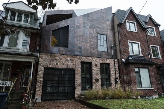 Copper, angles and surprises on Toronto's Strachan Avenue