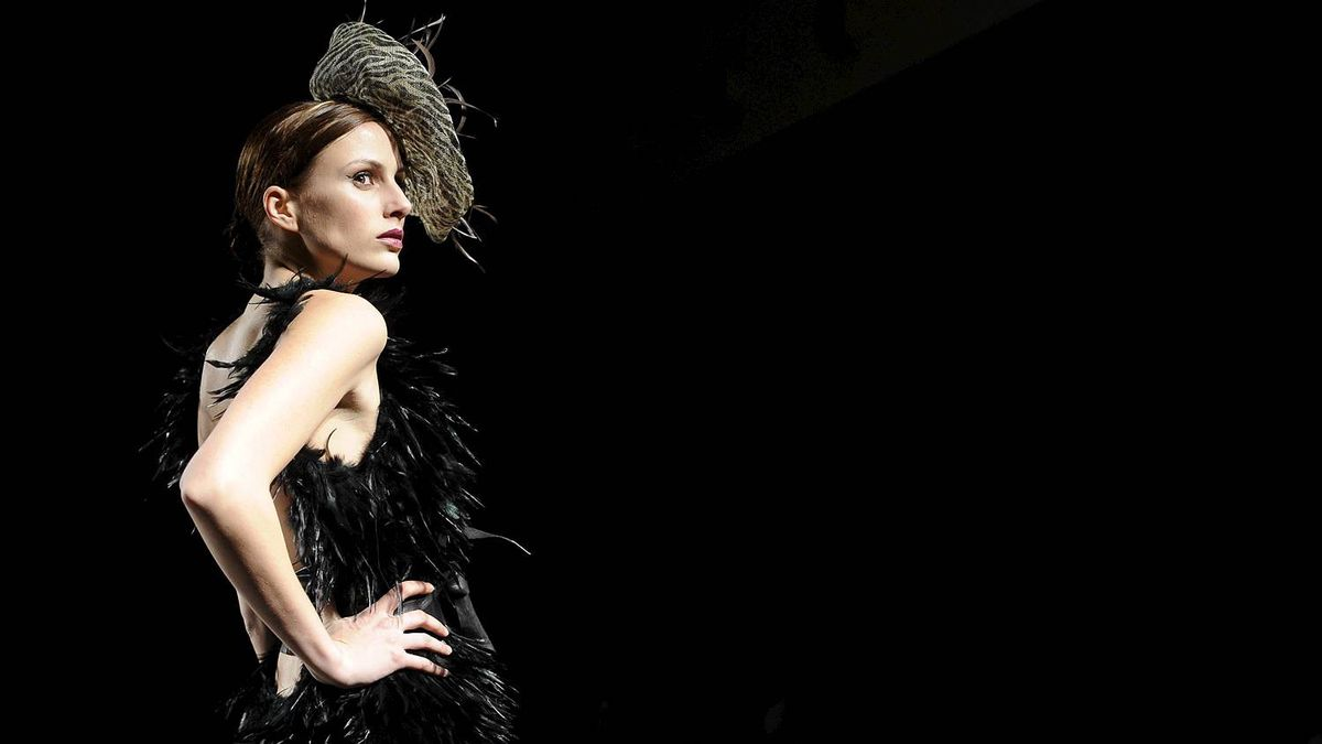 A model presents a creation by Spanish designer Pablo and Mayaya during the Pasarela Castilla y Leon Autumn/Winter 2011-2012 fashion show in Burgos