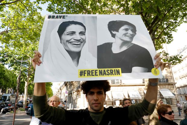 A human rights lawyer gets the recognition she deserves - as she languishes in an Iranian prison