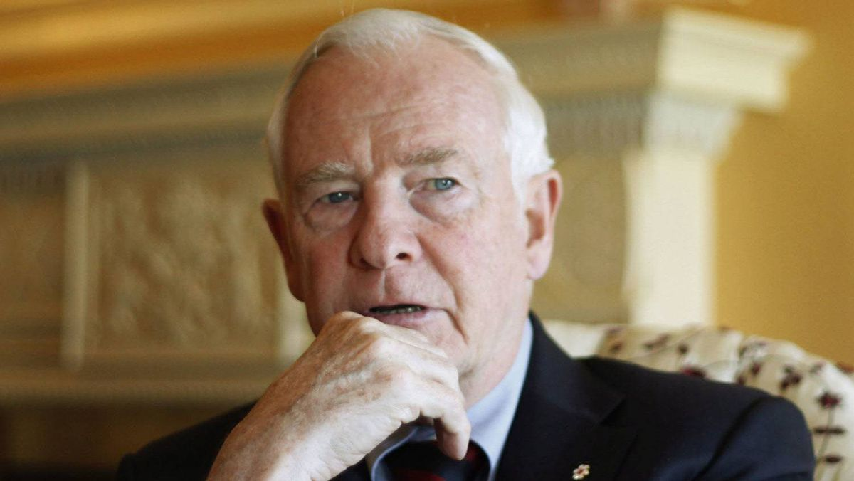 Governor General David Johnston at his official residence, Rideau Hall in Ottawa, Thursday April 5, 2012.