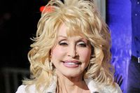 """Actress and singer Dolly Parton arrives at the Hollywood premiere of """"Joyful Noise"""" in Los Angeles, Calif., Jan. 9, 2012."""