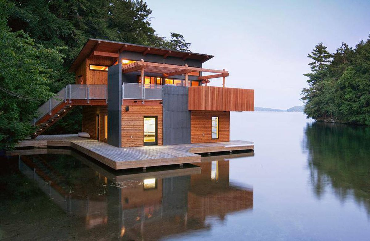 Three stunning boathouse designs and how you can get the for Sf globe tiny homes