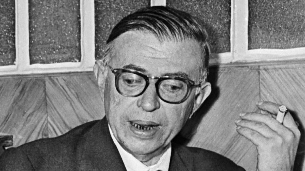 French philosopher Jean-Paul Sartre in June, 1960