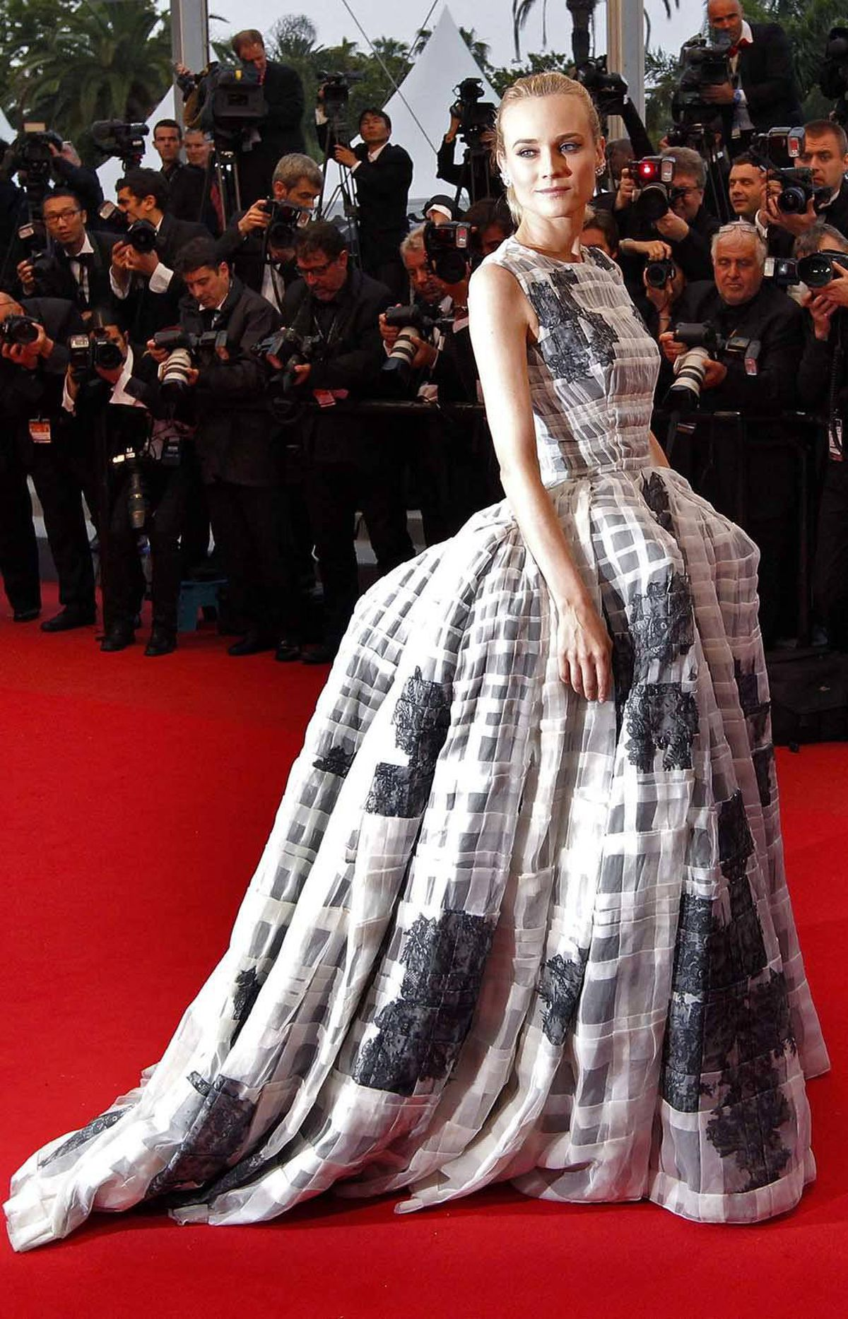 Cannes jury member Diane Kruger hits the Cannes red carpet last week in a dress that hardly resembles at all something Marie Antoinette would have worn.