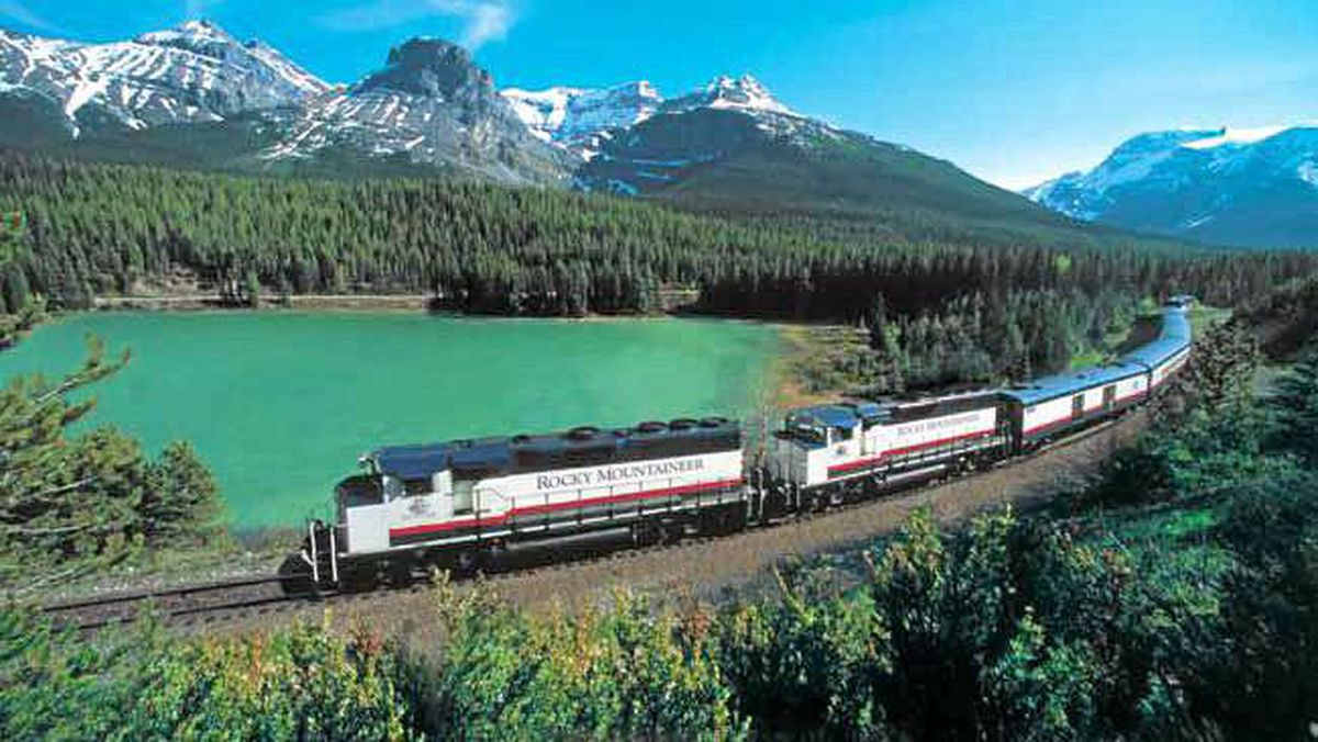 \ This year travel by train through the Canadian Rockies onboard the award-winning Rocky Mountaineer train and discover Canada from coast to coast.