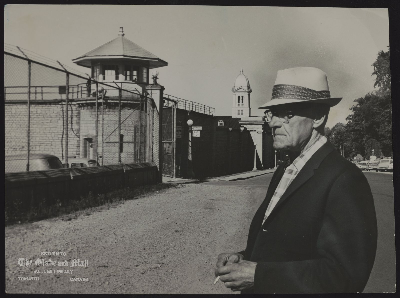 KINGSTON PENITENTIARY William Nicholson, father of one of the five penitentiary officers held hostage in Kingston Penitentiary kitchen for 28 hours, stands outside, the prison in which he spent 28 years as a guard. Another son, John, has been a guard at nearby Collins Bay Penitentiary for about 20 years.