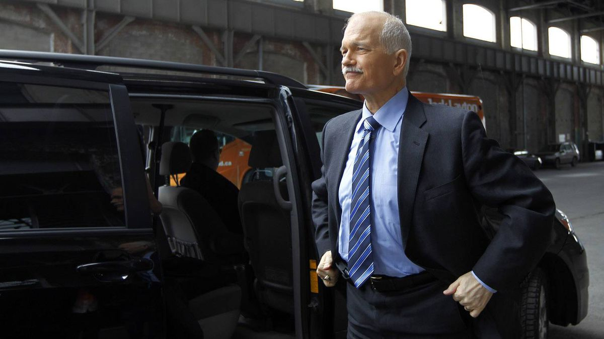 NDP Leader Jack Layton at a campaign stop in Montreal on March 31, 2011.