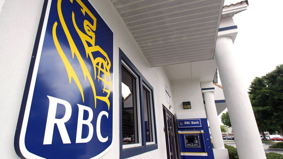 The entrance to a Royal Bank of Canada office is seen in Orlando, Fla.
